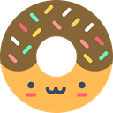food, Dessert, sweet, donut, baker, doughnut, Food And Restaurant Sienna icon