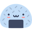 oriental, Asian, snack, Onigiri, japan, food, japanese, Food And Restaurant PowderBlue icon