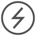 Battery, charge, power, lightning, electricity, Circle Black icon