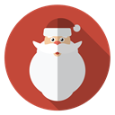 hairy, Face, christmas, winter, Holiday, santa, xmas Sienna icon