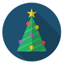 star, green, Tree, decoration, christmas, Chain, xmas DarkSlateGray icon
