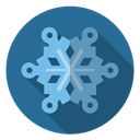 Blue, Snow, christmas, winter, xmas, snowflake, Frost SteelBlue icon