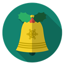 sound, bell, christmas, gold, Holiday, xmas Teal icon