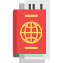 document, Identity, passport, travel, technology, identification Tomato icon