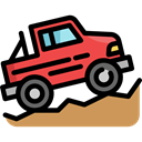 transportation, transport, vehicle, jeep, Automobile, Off Road Black icon