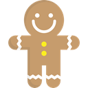 gingerbread man, Food And Restaurant, Dessert, gingerbread, sweet, Bakery, food, cookie DarkKhaki icon