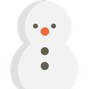 Snow, shapes, christmas, winter, snowman WhiteSmoke icon
