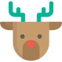 christmas, winter, Animals, deer, Animal, reindeer, mammal DarkKhaki icon