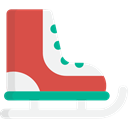 Ice Skating, Ice Skate, Sports And Competition, sports, leisure, Winter Sports IndianRed icon