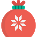 present, surprise, gift bag, Christmas Present, star, birthday, christmas, gift Tomato icon