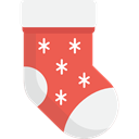 christmas, Clothes, clothing, fashion, Garment, Christmas Sock WhiteSmoke icon