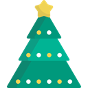 trees, Christmas tree, christmas, nature, Forest, woods DarkCyan icon