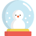 Tree, Snow, shapes, christmas, ornament, decoration, Snow Globe Icon