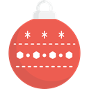 christmas, ornament, xmas, decoration, bauble Tomato icon