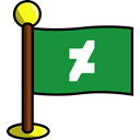 Social, Art, networking, deviarart, media, flag ForestGreen icon