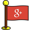 google, Social, networking, media, plus, flag Chocolate icon