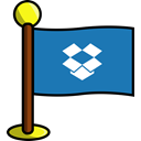 media, flag, dropbox, Social, networking SteelBlue icon