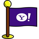 media, flag, yahoo, Social, networking Indigo icon
