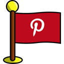 media, flag, Social, networking, pinterest Firebrick icon