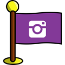 media, flag, photos, Social, networking, Instagram DarkOrchid icon