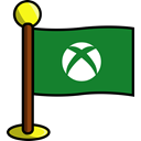 media, Games, flag, xbox, Social, networking ForestGreen icon