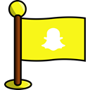 media, flag, Social, networking, Snapchat Yellow icon