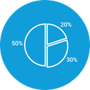chart, graph, Pie chart DodgerBlue icon