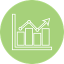 statistics, Bar, graph, Analytics DarkSeaGreen icon