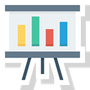 screen, Analytics, research, seo, market data, statistics icon WhiteSmoke icon