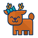 happy, Animal, Forest, deer, reindeer Chocolate icon