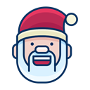 happy, smiley, smile, Emoticon, santa, Emoji Black icon