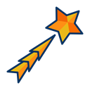 star, shooting, decoration, shoot, Decorate, stargaze Icon