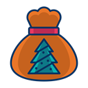 Tree, christmas, gift, present, Bag Icon