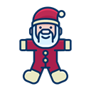 Game, santa, claus, smile, Toy, Child Black icon