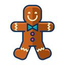 Man, cookie, christmas, Dessert, gingerbread, sweet Black icon