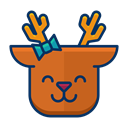 deer, Emoji, reindeer, happy, smile, Emoticon Chocolate icon