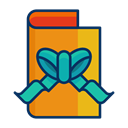 card, christmas, Ribbon, Bow, greeting Black icon