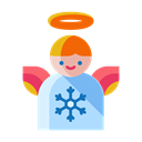 christmas, Angel, winter, decoration, snowflake, Decorate Black icon