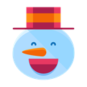 Snow, snowman, Emoji, smiley, smile, Emoticon, Man Black icon