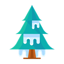 winter, Cold, Forest, Tree, plant, Snow Black icon