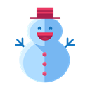 Build, Snow, christmas, Man, snowman, decoration, Decorate Black icon