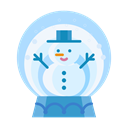 snowman, snowglobe, Man, Snow, christmas, winter Black icon