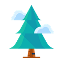 Tree, plant, Cloud, winter, Forest Black icon