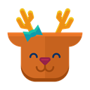 happy, smile, Emoticon, deer, Emoji, reindeer Chocolate icon