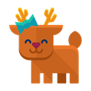 Animal, smile, winter, Forest, deer, reindeer Chocolate icon