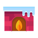 fire, Flame, winter, Cold, fireplace, livingroom Black icon