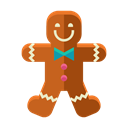 Man, cookie, Dessert, gingerbread, sweets Black icon