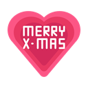 Message, Heart, love, christmas, merry Black icon
