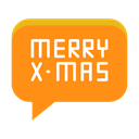 Message, Text, christmas, Conversation, greeting, merry DarkOrange icon