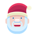 Man, smiley, smile, Emoticon, christmas, santa, Emoji Black icon
